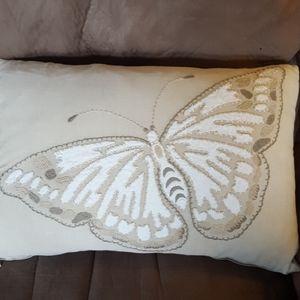 World Market butterfly throw pillow.